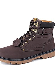 Men's Boots Fall / Winter Fashion Boots / Work & Safety / Combat Boots Outdoor / Casual Flat Heel Lace-upBlack / Brown /