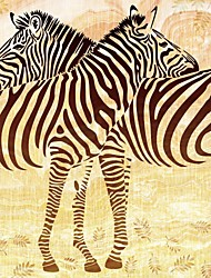 JAMMORY Art Deco Wallpaper Retro Wall Covering,Canvas Large Mural Zebra Simple