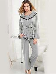 Girl & Nice® Feminino Algodão Robes-M2822