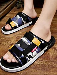 Men's Slippers & Flip-Flops PVC Summer Casual Flat Heel Dark Blue Yellow Blue Flat