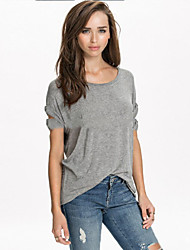 Women's Going out / Casual/Daily / Holiday Vintage / Simple / Street chic Summer T-shirtAnimal Print Round BN0648