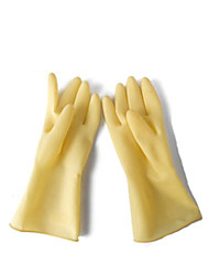 extendido engrosadas guantes de goma impermeable a prueba de ácidos de aceite de la casa de gran tamaño alcalino 2 pares de venta