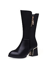 Feminino-Botas-Saltos / Plataforma / Inovador / Botas de Cowboy / Botas de Neve / Botas Cano Curto / Bico Fino / Botas Montaria / Botas