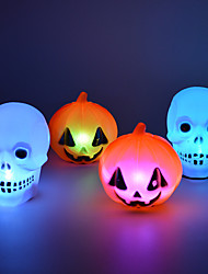 Halloween decorations Party Supplies Colorful Pumpkin Skull Night Light(1PCS)