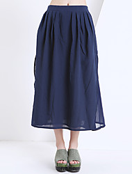 Yishidian Women's Tea-length Skirt-YSD8230