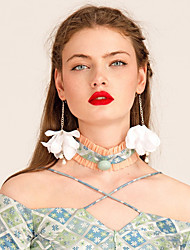 YIGELILA Necklace Choker Necklaces Jewelry Daily Fashion Lace Pink 1pc Gift-Y085