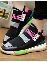 Unisex Sneakers Spring / Fall Closed Toe PU / Leatherette Outdoor / Athletic Flat Heel Lace-up Black /  Sneaker