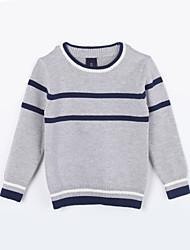 Mädchen Pullover & Cardigan-Lässig/Alltäglich Gestreift Baumwolle Herbst Grau