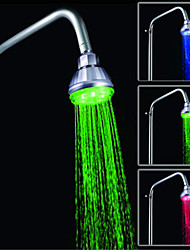 LED Temperature Control Three Color Shower Spray (ABS Plating)