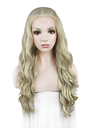 IMSTYLE 24Affordable Long Water Wave Synthetic Lace Front Wigs for Black Woman