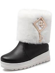 Feminino-Botas-Saltos / Plataforma / Botas de Cowboy / Botas de Neve / Botas Cano Curto / Arrendondado / Botas da Moda / Botas de