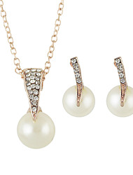 Pearl Pendant Necklaces Stud Earrings Set