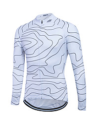 Fastcute® Cycling Jersey Women's / Men's / Unisex Long Sleeve BikeBreathable / Quick Dry / Front Zipper / YKK Zipper / Reflective Strips
