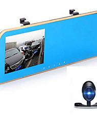 Rear View Mirror Double Lens 1080P High Definition Night Vision Wide Angle Parking Monitoring Driving Recorder