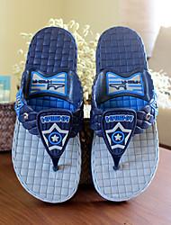 Синий / Миндальный-Мужской-На каждый день-ПВХ-На плоской подошве-Босоножки-Тапочки и Шлепанцы