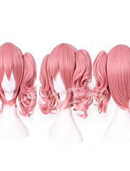 50cm Short Anime Suncos Inu x Boku SS Roromiya Karuta Cosplay Wig Lovely Costume Wig with 2 Ponytails