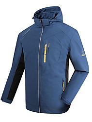 Универсальные Куртка софтшелл для туризма и прогулок Водонепроницаемость Сохраняет тепло Быстровысыхающий С защитой от ветра Пригодно для