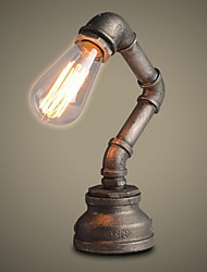 mesa ecolight® lâmpadas sotão industrial retro novidade lâmpada de mesa / estudo / pintura metálica