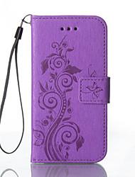 Pour Samsung Galaxy S7 Edge Portefeuille Porte Carte Avec Support Relief Coque Coque Intégrale Coque Fleur Dur Cuir PU pour SamsungS7