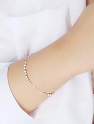 Femme Chaînes & Bracelets Argent sterling Mode Simple Style Forme de Cercle Argent Bijoux 1pc