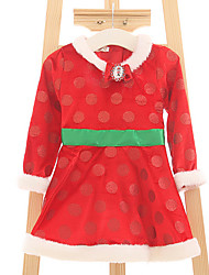Mädchen Kleid-Party/Cocktail einfarbig Polyester Herbst Rot