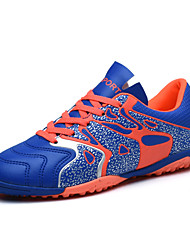 Men's Athletic Shoes PU Athletic Flat Heel Lace-up Blue / Green / Black and Red Soccer EU38-41