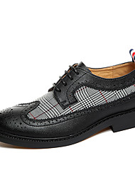Men's Oxfords/Fashion Baroque/Plaid Shoes/Leather/Comfortable/Good Quality/Classic/Personality