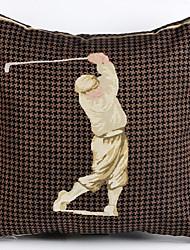taie d'oreiller en lin / cas, tissé caractéristique traditionnelle de style / de golf classique