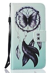 Pour Coque Huawei P9 P9 Lite P8 Lite Portefeuille Porte Carte Avec Support Coque Coque Intégrale Coque Attrapeur de rêves Dur Cuir PU pour
