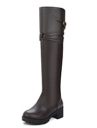 Women's Shoes Chunky Heel Round Toe Platform Over The Knee Boot More Color Available