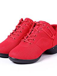 Sapatos de Dança(Preto / Vermelho) -Feminino-Não Personalizável-Tênis de Dança