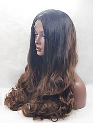 ombre braun blonde Spitzefront Wärme synthetische Perücken beständig für schwarze Frauen Perücke lange qualitativ hochwertige Mode wellig