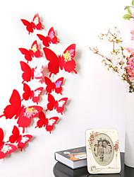 Animaux Stickers muraux Stickers muraux 3D Stickers muraux décoratifs / Stickers de frigo / Stickers mariage,pvc MatérielAmovible /