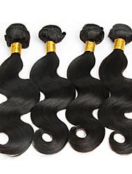 Menschenhaar spinnt Malaysisches Haar Große Wellen 12 Monate 4 Stück Haar webt
