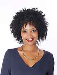 Kinky Curly Wig Full Lace Human Hair Wigs For Black Women 8A Short Bob Peruvian Human Hair Wigs