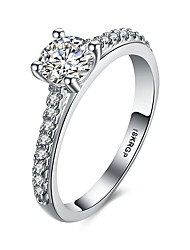 lureme Elegant 18kRPG Cubic Zirconia Engagement Ring