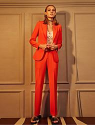 c + impressionner solide pantssimple d'affaires orange des femmes