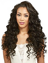8 to 24 inches Brazilian Human Hair Wigs Loose Wave Glueless Lace Front Wigs For Black Women
