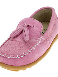 Unisex Flats Spring / Fall Flats Leather Wedding / Outdoor / Party & Evening / Athletic / Casual Flat Heel Slip-on