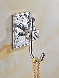 Self-adhesive Robe Hook with 3M Back Sticker Silver Hooks 6pcs/set YG6pc-1
