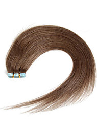 30-50g/pack 16-24inch Indian hair #8 Ash Brown Medium Browm Tape In Human Hair Extensions