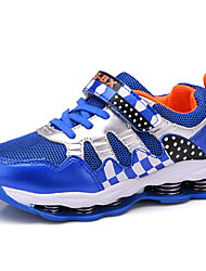 Masculino-Tênis-Conforto-Rasteiro-Azul Azul Real-Couro Ecológico-Casual