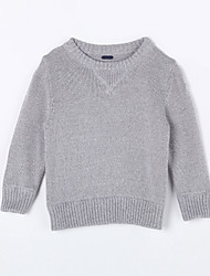 Boy's Casual/Daily Solid Sweater & CardiganCotton Fall Gray
