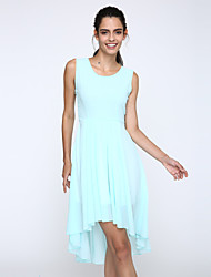 Women's Asymmetrical Summer Chiffon Dress