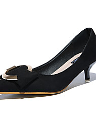 Women's Heels Spring / Summer / Fall / Winter Comfort  Casual Low Heel Buckle Black / Pink / Gray Walking