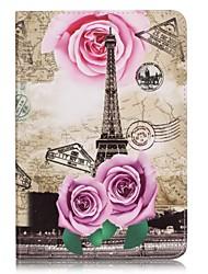 Для Кошелек / Бумажник для карт Кейс для Чехол Кейс для Эйфелева башня Твердый Искусственная кожа Apple iPad Mini 4 / iPad Mini 3/2/1