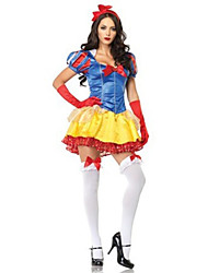 Costumes Movie & TV Theme Costumes Halloween Yellow / Blue Patchwork Terylene Dress / More Accessories