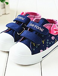 Girl's Sneakers Fall Comfort Canvas Athletic Flat Heel Bowknot Blue / Pink Sneaker