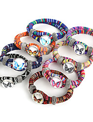 Beadia 1Pc Snap Button Bracelet Butterfly Wrap Rope Cord Bracelet