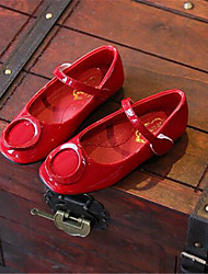 Girl's Flats Fall Ballerina / Round Toe Patent Leather Casual Flat Heel Others Black / Pink / Red Others